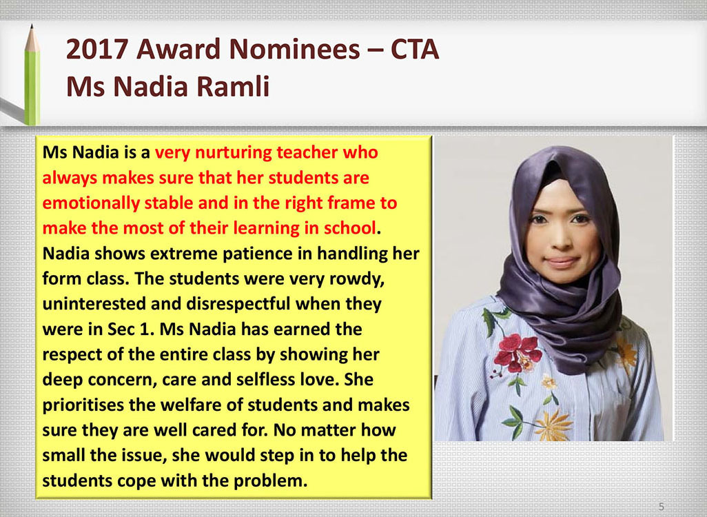 2017 Recognition Ms Nadia Ramli