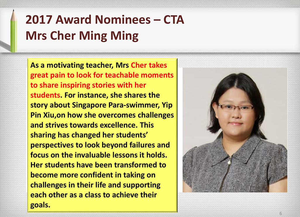 2017 Recognition Mrs Cher Ming Ming
