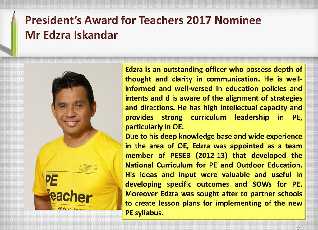 2017 Recognition Mr Edzra Iskandar