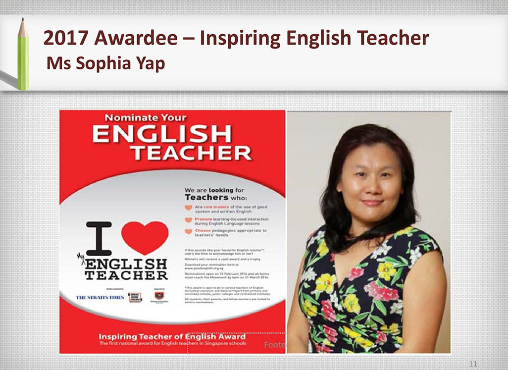 2017 Recognition Ms Sophia Yap