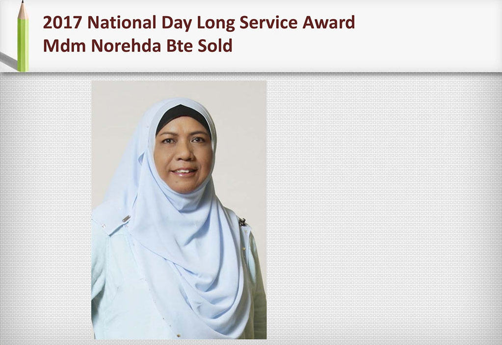 2017 Recognition Mdm Norehda Bte Sold