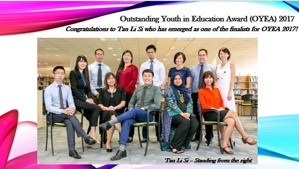 Outstanding Youth in Education Award 2017